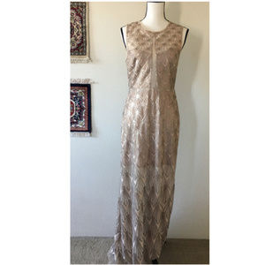 BCBGMAXAZRIA Gatsby Sequin Illusion Dress Sz 6
